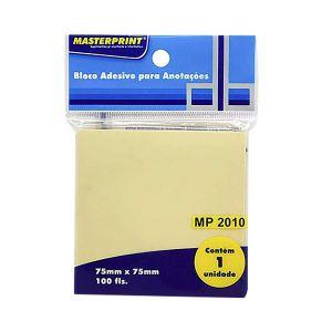 Bloco Adesivo Amarelo 75x75mm 100 fls - Masterprint MP2010