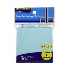 Bloco Adesivo Azul 75x75mm c/100 fls - Masterprint MP2013