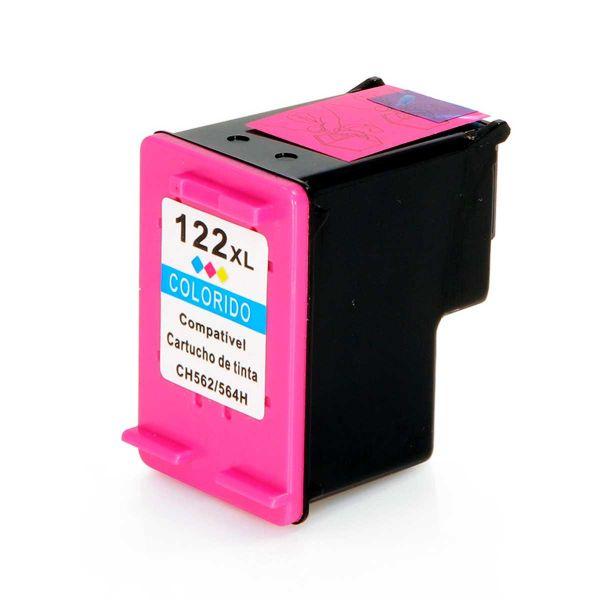 Cartucho de Tinta Compatível HP 122XL - Colorido