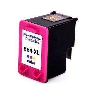 Cartucho de Tinta Compatível HP 664XL - Colorido