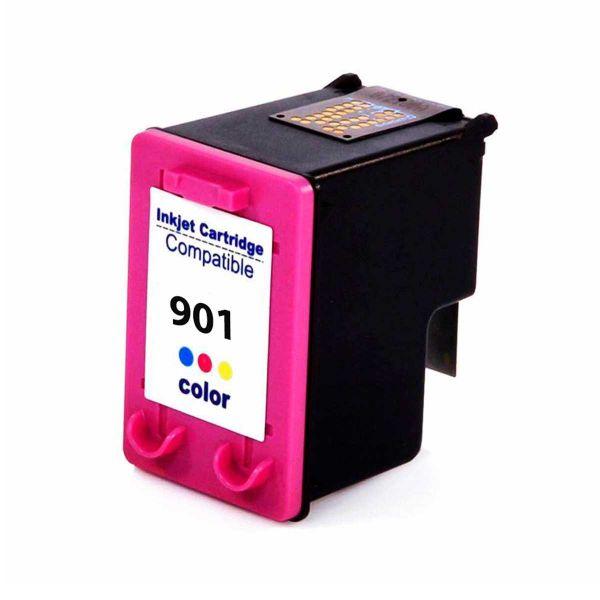 Cartucho de Tinta Compatível HP 901 - Colorido