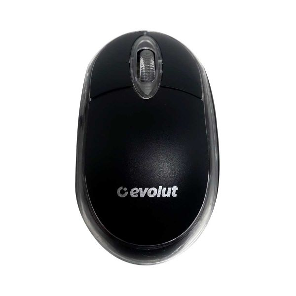 Mouse Evolut USB Preto Iluminado EO-101