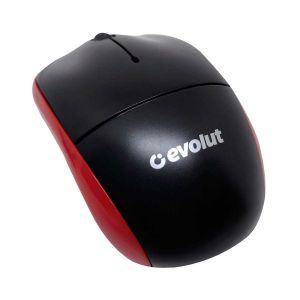 Mouse Evolut USB Preto/Vermelho EO-102RD