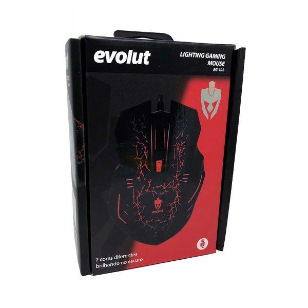 Mouse Gamer Evolut USB Preto EG-102