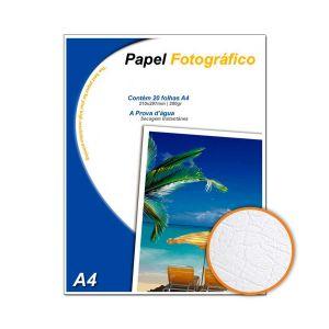 Papel Fotográfico Textura Couro A4 200 g/m² Glossy - 20 Folhas