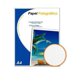 Papel Fotográfico Textura Linho A4 200 g/m² Glossy - 20 Folhas