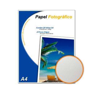 Papel Fotográfico Textura Pérola A4 200g/m² Glossy - 20 Folhas