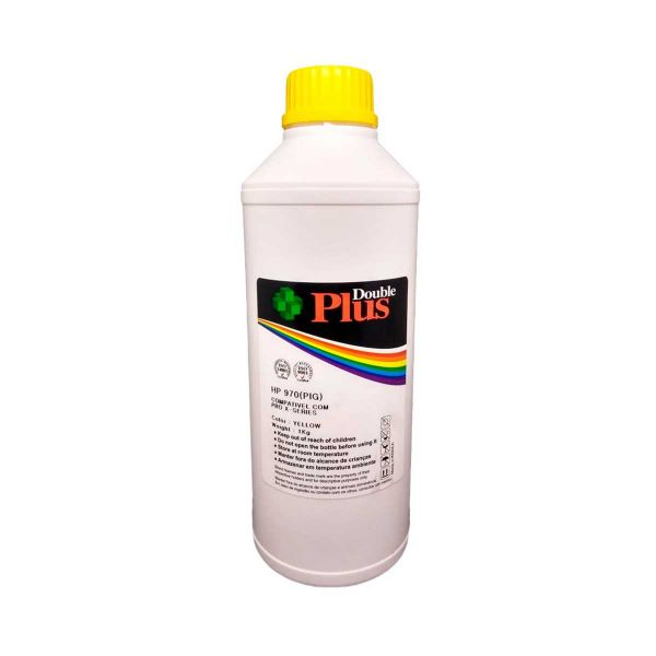 Tinta Pigmentada Double Plus HP 970 Amarelo