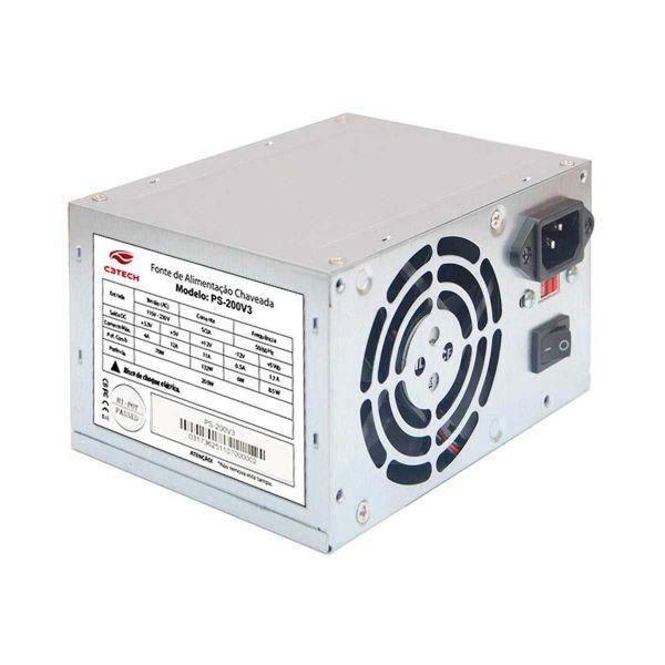Fonte C3Tech 200W ATX Sem Cabo - PS-200V3