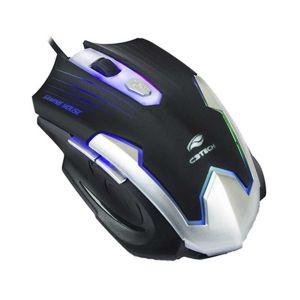 Mouse Gamer C3Tech 2400DPI com Iluminação Preto MG-11