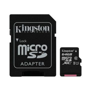 MicroSD Kingston Canvas Select 64GB Classe 10 - SDCS/64GB
